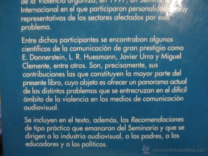 Libros de segunda mano: Violencia, televisión y cine - José Sanmartín, Centro de Arte Reina Sofía - Foto 5 - 53583328
