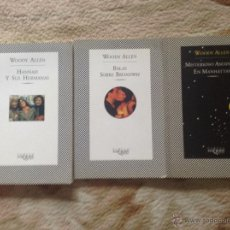 Libros de segunda mano: 3 GUIONES DE WOODY ALLEN DE LA EDITORIAL TUSQUETS DE TAPA BLANDA. Lote 54235581