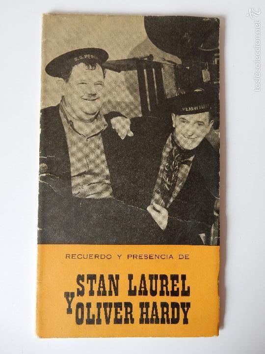 RECUERDO Y PRESENCIA DE STAN LAUREL Y OLIVER HARDY. 1965 (Libros de Segunda Mano - Bellas artes, ocio y coleccionismo - Cine)