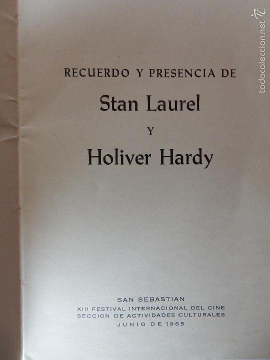 Libros de segunda mano: RECUERDO Y PRESENCIA DE STAN LAUREL Y OLIVER HARDY. 1965 - Foto 2 - 56316581