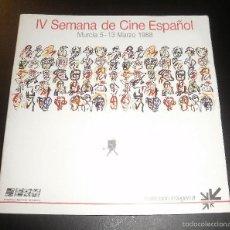 Libros de segunda mano: LIBRO. IV SEMANA DE CINE ESPAÑOL (CATÁLOGO). MURCIA, 1988, FILMOTECA REGIONAL. POSTAL DE REGALO. Lote 56557471