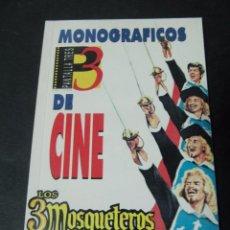 Libros de segunda mano: MONOGRAFICOS DE CINE PANTALLA 3 LOS 3 MOSQUETEROS LOS TRES MOSQUETEROS. Lote 57127295