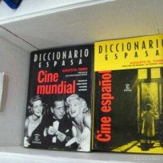 Libros de segunda mano: 2 DICCIONARIOS ESPASA CINE - ESPAÑOL Y MUNDIAL - TAPA DURA - MÁS DE 1000 P. TOMO. Lote 57727090