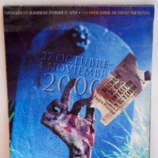 Libros de segunda mano: XI SEMANA DE CINE FANTASTICO Y DE TERROR FOLLETO DESPLEGABLE GUIA DEL FESTIVAL AÑO 2000. Lote 58673680