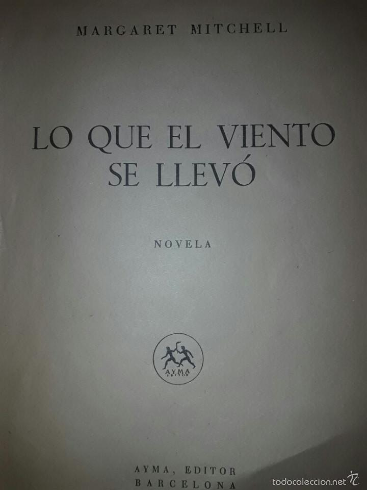 LIBRO LO QUE EL VIENTO SE LLEVO 1949 (Libros de Segunda Mano - Bellas artes, ocio y coleccionismo - Cine)