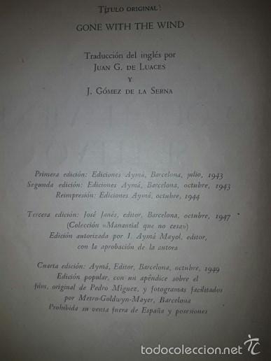Libros de segunda mano: Libro Lo que el viento se llevo 1949 - Foto 2 - 59509699