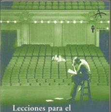 Libros de segunda mano: MICHAEL CHEJOV. LECCIONES PARA EL ACTOR PROFESIONAL. ALBA. Lote 61106623