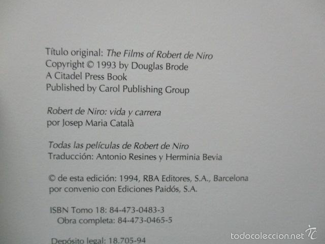 Libros de segunda mano: ANTOLOGIA DEL CINE CLASICO. TODAS LAS PELICULAS DE ROBERT DE NIRO. MITOS DEL CINE - Libro como nuevo - Foto 7 - 61646136