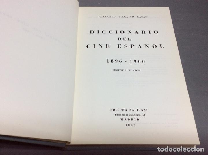 DICCIONARIO DEL CINE ESPAÑOL 1896-1966 / FERNANDO VIZCAÍNO CASAS -ED. EDITORA NACIONAL AÑO 1968 (Libros de Segunda Mano - Bellas artes, ocio y coleccionismo - Cine)