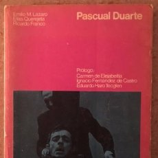 Libros de segunda mano: PASCUAL DUARTE - GUIÓN - ELÍAS QUEREJETA, F. MARTÍNEZ LÁZARO, RICARDO FRANCO - 1976. Lote 68496721