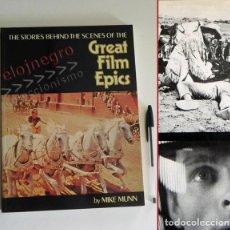 Libros de segunda mano: GREAT FILM EPICS LIBRO MUCHAS FOTOS INGLÉS - HISTORIAS DETRÁS DE ESCENAS CINE 2001 EL CID ESPARTACO. Lote 85831728
