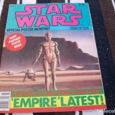 Libros de segunda mano: STAR WARS. REVISTA CON POSTER GRANDE. OFFICIAL POSTER MONTHLY. #15. 1977.. Lote 89660892