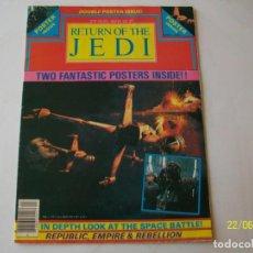 Libros de segunda mano: STAR WARS. RETURN OF THE JEDI. REVISTA CON POSTER GRANDE. OFFICIAL POSTER MONTHLY. #4. 1983.. Lote 89661784