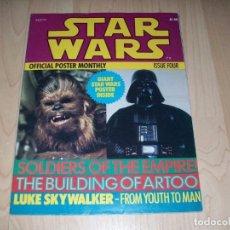 Libros de segunda mano: STAR WARS. REVISTA CON POSTER GRANDE. OFFICIAL POSTER MONTHLY. #4. 1977.. Lote 89675812
