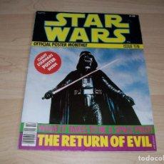 Libros de segunda mano: STAR WARS. REVISTA CON POSTER GRANDE. OFFICIAL POSTER MONTHLY. #10. 1977.. Lote 89678680