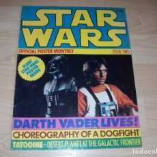 Libros de segunda mano: STAR WARS. REVISTA CON POSTER GRANDE. OFFICIAL POSTER MONTHLY. #2. 1977.. Lote 89680596