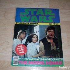 Libros de segunda mano: STAR WARS. REVISTA CON POSTER GRANDE. OFFICIAL POSTER MONTHLY. #13. 1977.. Lote 89680732