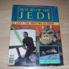Libros de segunda mano: STAR WARS. RETURN OF THE JEDI. REVISTA CON POSTER GRANDE. OFFICIAL POSTER MONTHLY #1. 1983.. Lote 89681072