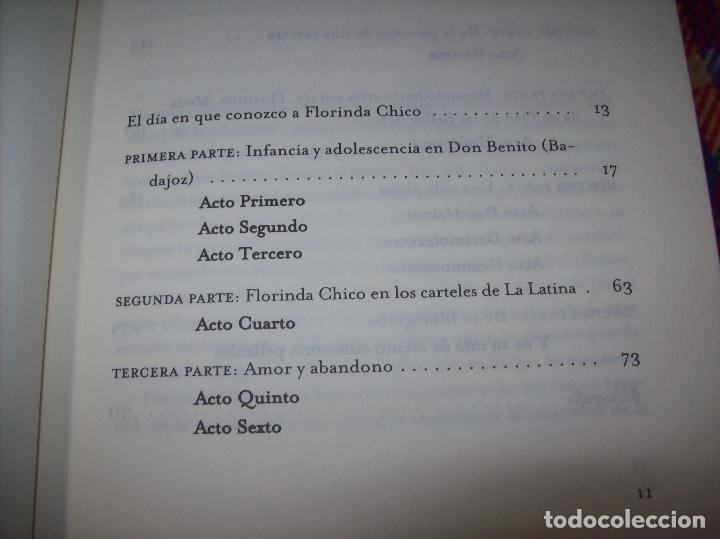 Libros de segunda mano: FLORINDA CHICO. EN EL GRAN TEATRO DEL MUNDO. JUAN ANTONIO PÉREZ. ED. MARTÍNEZ ROCA. 1ª EDICIÓN 2003. - Foto 4 - 89727372