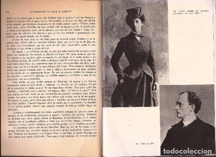 Libros de segunda mano: CECIL B. DEMILLE – AUTOBIOGRAFÍA – ARGOS, 1960 – 1ª ED. - CON FOTOGRAFÍAS B/N. - Foto 5 - 89914720