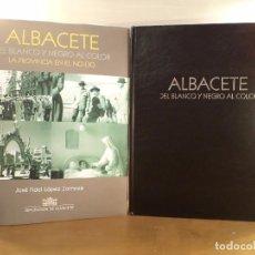 Libri di seconda mano: ALBACETE DEL BLANCO Y NEGRO AL COLOR. LA PROVINCIA EN EL NO-DO (1943-1981) LÓPEZ ZORNOZA, JOSÉ FIDEL. Lote 90120284