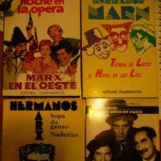 Libros de segunda mano: LOTE 4 LIBROS GUIONES Y ENSAYOS PELÍCULAS HERMANOS MARX:SOPA DE GANSO, UNA NOCHE EN LA ÓPERA..... Lote 92344370
