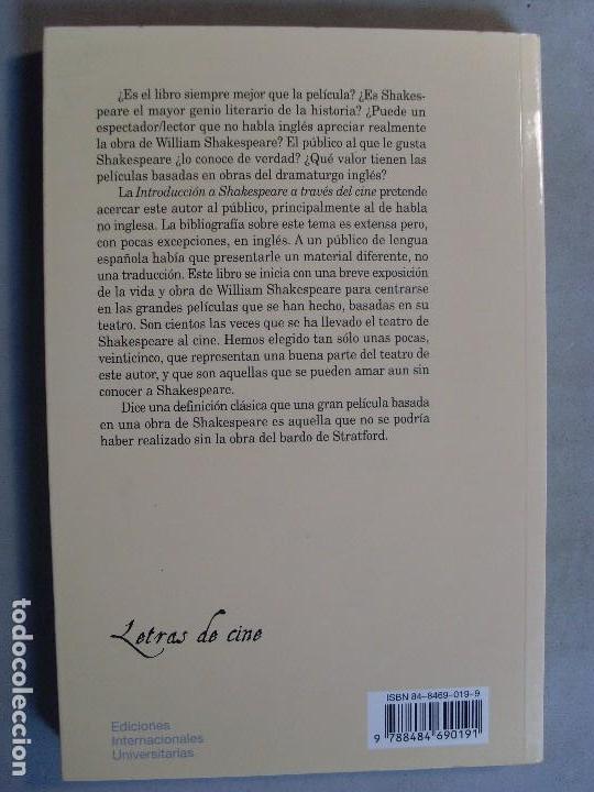 Libros de segunda mano: INTRODUCCIÓN A SHAKESPEARE A TRAVÉS DEL CINE / Fernando Gil Delgado / 1ª edición 2001 - Foto 4 - 94924763
