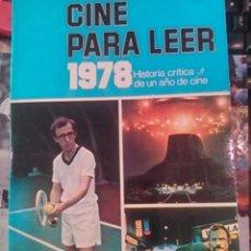 Libri di seconda mano: CINE PARA LEER. 1978. (BILBAO, 1978). Lote 95303791
