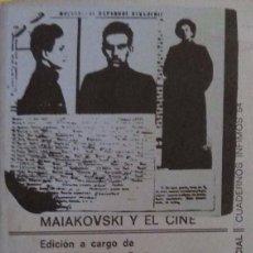 Libros de segunda mano - Ángel FERNANDEZ SANTOS. Maiakovski y el cine. Barcelona. 1974. - 98802499