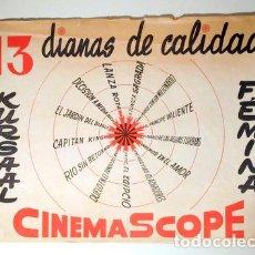 Libros de segunda mano: 13 DIANAS DE CALIDAD. ALBUM PUBLICITARIO - CINES KURSAL Y FEMINA - BARCELONA C. 1950. Lote 99327952