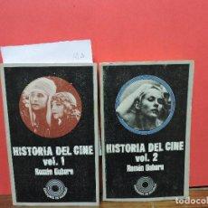 Libros de segunda mano: HISTORIA DEL CINE. VOL. 1 Y 2. GUBERN, ROMÁN. ED. LUMEN. BARCELONA 1973. Lote 105796695