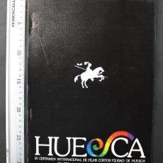 Libros de segunda mano: IX CERTAMEN INTERNACIONAL FILMS CORTOS CIUDAD DE HUESCA 1981 24 PAGINAS, CINE CORTOMETRAJE. Lote 108401959
