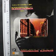 Libros de segunda mano: 15 CERTAMEN INTERNACIONAL FILMS CORTOS CIUDAD DE HUESCA 1987 115 PAGINAS, CINE CORTOMETRAJE. Lote 108402779
