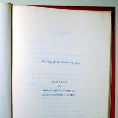 Libros de segunda mano: LA OPINIÓN PÚBLICA Y EL CINE - BARCELONA 1962 - EDICIÓN CICLOSTILADA. Lote 109255028