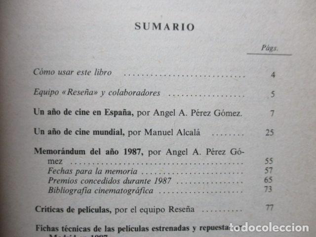 Libros de segunda mano: CINE PARA LEER, Historia crítica de un año de cine 1987 - EQUIPO RESEÑA EQUIPO RESEÑA - Foto 7 - 109829999