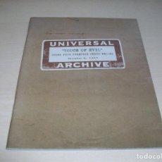 Libros de segunda mano: ORSON WELLES. SED DE MAL. TOUCH OF EVIL. FACSIMIL MEMORANDUM. 1957.. Lote 112033543
