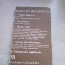 Libros de segunda mano: MARILYN REVISADA CUADERNOS ANAGRAMA 1971. Lote 113065603