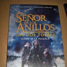 Libros de segunda mano: EL SEÑOR DE LOS ANILLOS LAS DOS TORRES ALBUM PELICULA PERSONAJES Y ESCENARIOS TIERRA MEDIA MINOTAURO. Lote 114070659