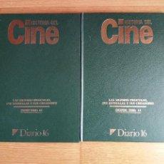 Libros de segunda mano: 2 TOMOS HISTORIA DEL CINE - LAS MEJORES PELICULAS SUS ESTRELLAS Y CREADORES DIARIO 16. Lote 115410115