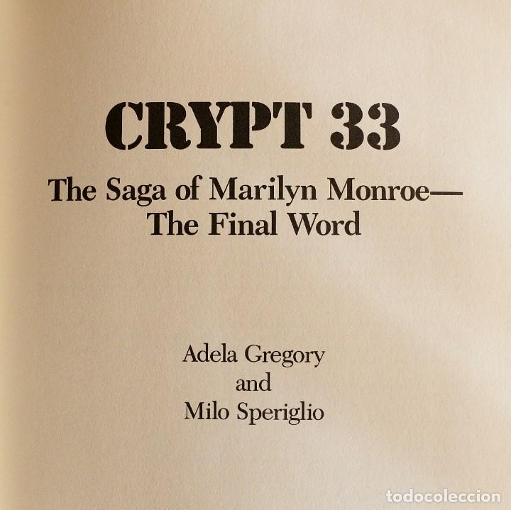 Libros de segunda mano: Marilyn Monroe - crypt 33 - Foto 2 - 115582687