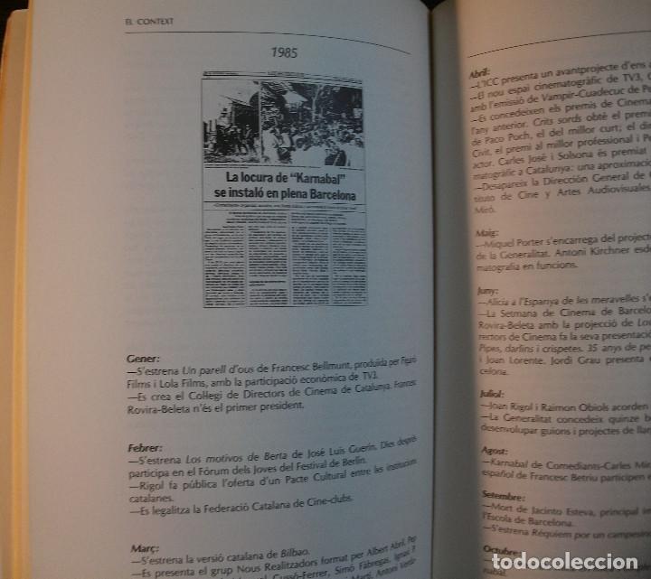 Libros de segunda mano: CINEMA CATALA 1975 - 1986. JORDI BALLO, RAMON ESPELT, JOAN LORENTE. 1ª EDICIO, 1990 - Foto 2 - 118164639