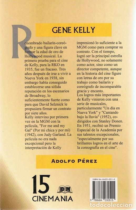 Libros de segunda mano: GENE KELLY ADOLFO PÉREZ - Foto 2 - 121237879