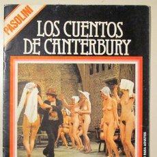 Libros de segunda mano: PASOLINI, PIER PAOLO - FILM DOCUMENTO. LOS CUENTOS DE CANTERBURY - BARCELONA 1977 - ILUSTRADO. Lote 123101434