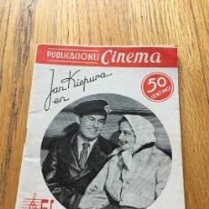 Libros de segunda mano: EL CANTANTE DE VIENA, PUBLICACIONES CINEMA. Lote 124452199