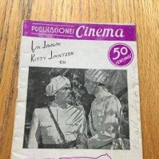 Libros de segunda mano: EL TIGRE DE ESNAPUR, PUBLICACIONES CINEMA. Lote 124452659