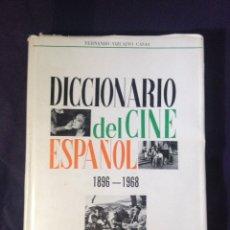 Libros de segunda mano: VIZCAINO CASAS, FERNANDO. DICCIONARIO DEL CINE ESPAÑOL, 1896-1968. DEDICATORIA AUTOR. Lote 126141972