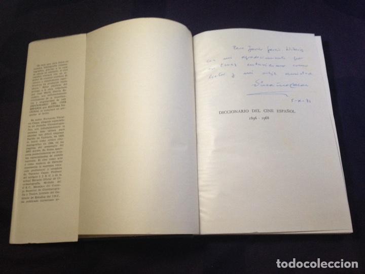 Libros de segunda mano: VIZCAINO CASAS, FERNANDO. DICCIONARIO DEL CINE ESPAÑOL, 1896-1968. DEDICATORIA AUTOR - Foto 5 - 126141972