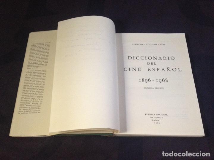 Libros de segunda mano: VIZCAINO CASAS, FERNANDO. DICCIONARIO DEL CINE ESPAÑOL, 1896-1968. DEDICATORIA AUTOR - Foto 6 - 126141972