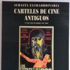 Libros de segunda mano: CATÁLOGO SUBASTA EXTRAORDINARIA CARTELES DE CINE ANTIGUOS. SOLER Y LLACH. 2001. Lote 126214599