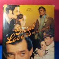 Libros de segunda mano: GREAT LOVERS OF THE MOVIES - GRANDES AMANTES DEL CINE - JANE MERCER - HAMLYN, 1975. Lote 130050907